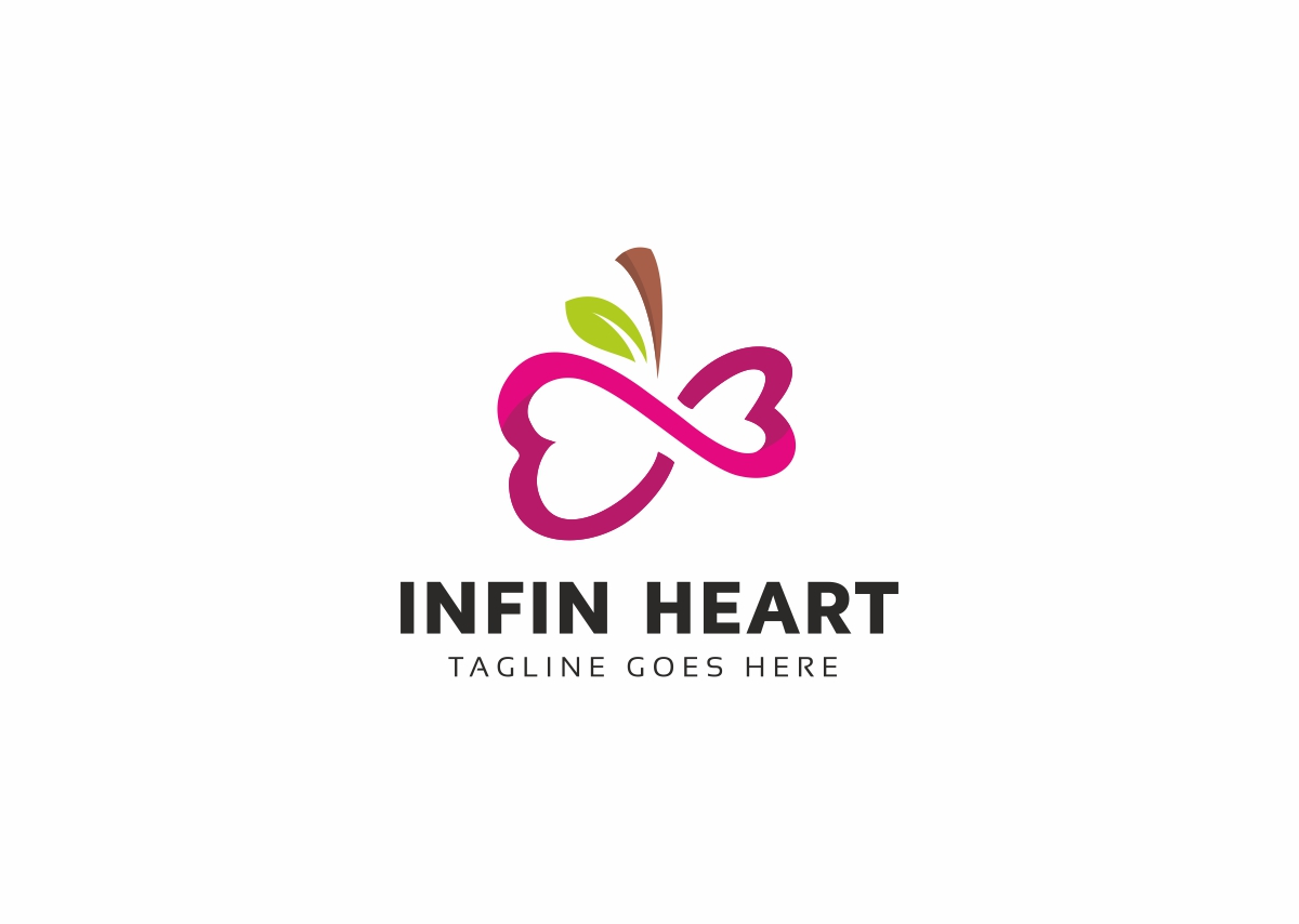 Infinity Heart Logo Template