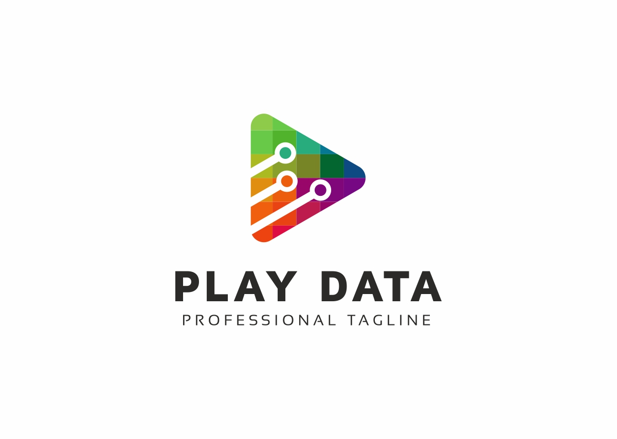 Play Data Logo Template