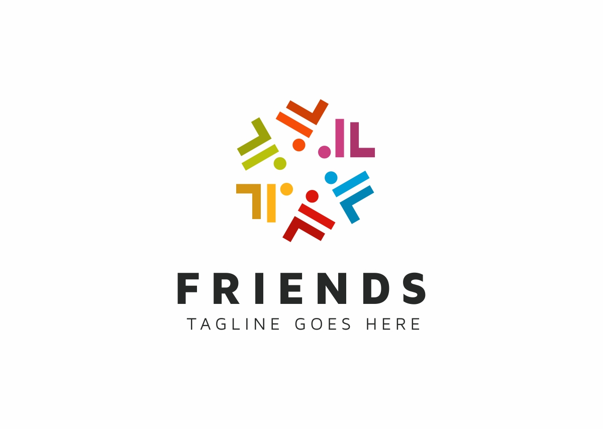 Friends Connect People Logo Template