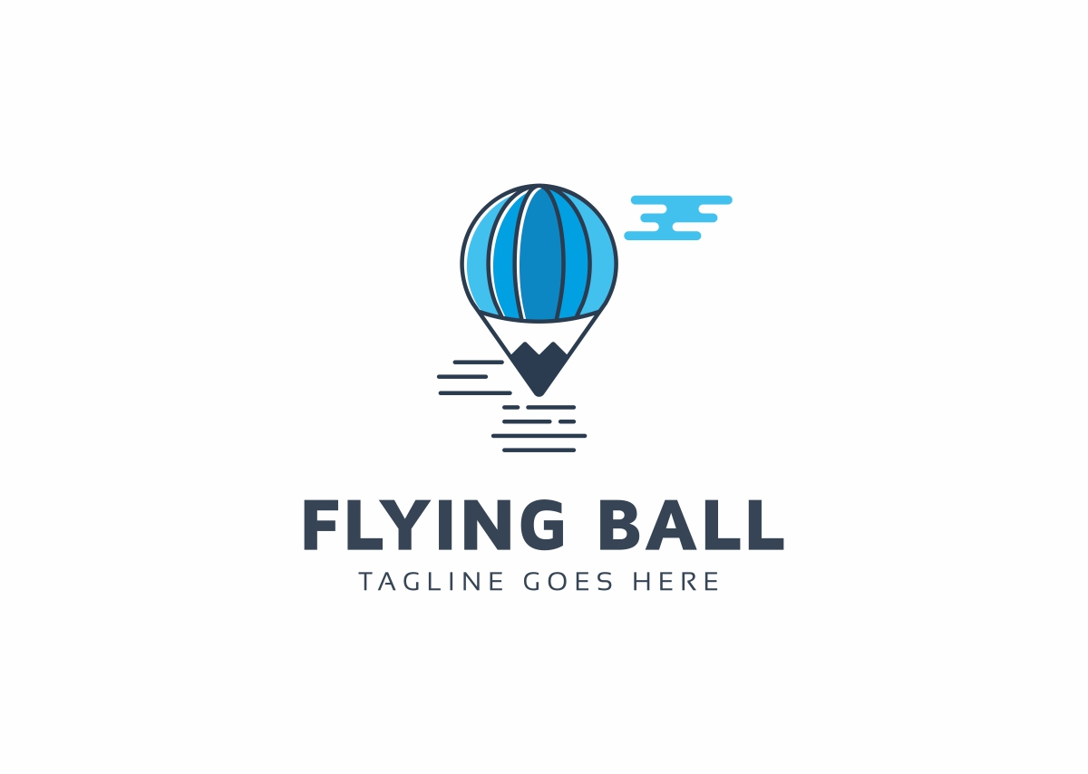 Flying Balloon Logo Template