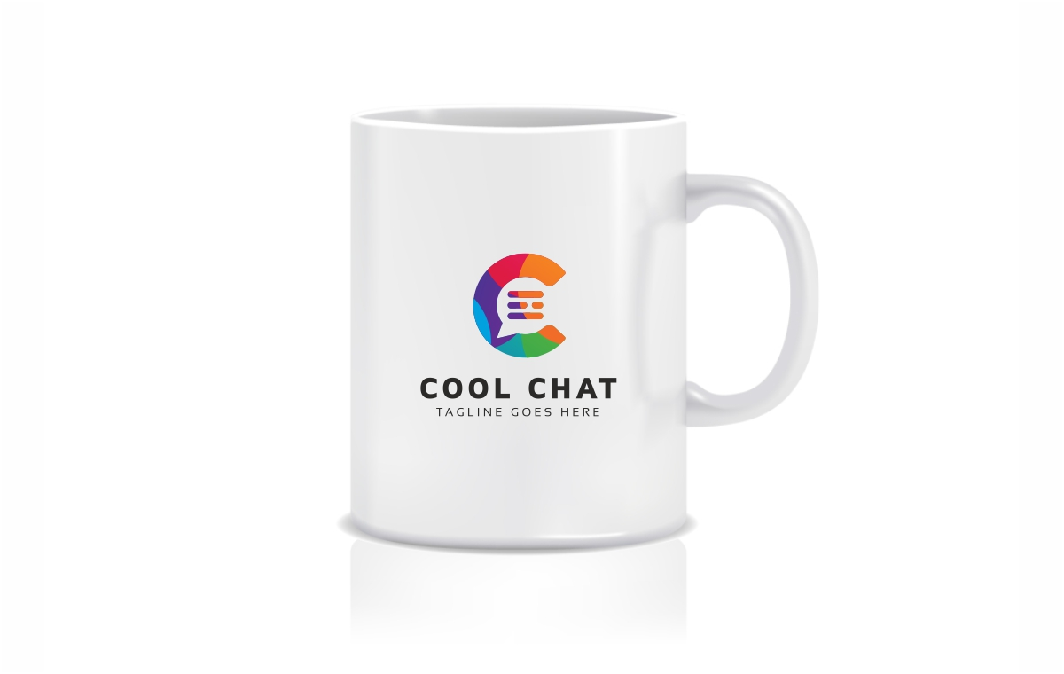 Cool Chat C Letter Logo Template