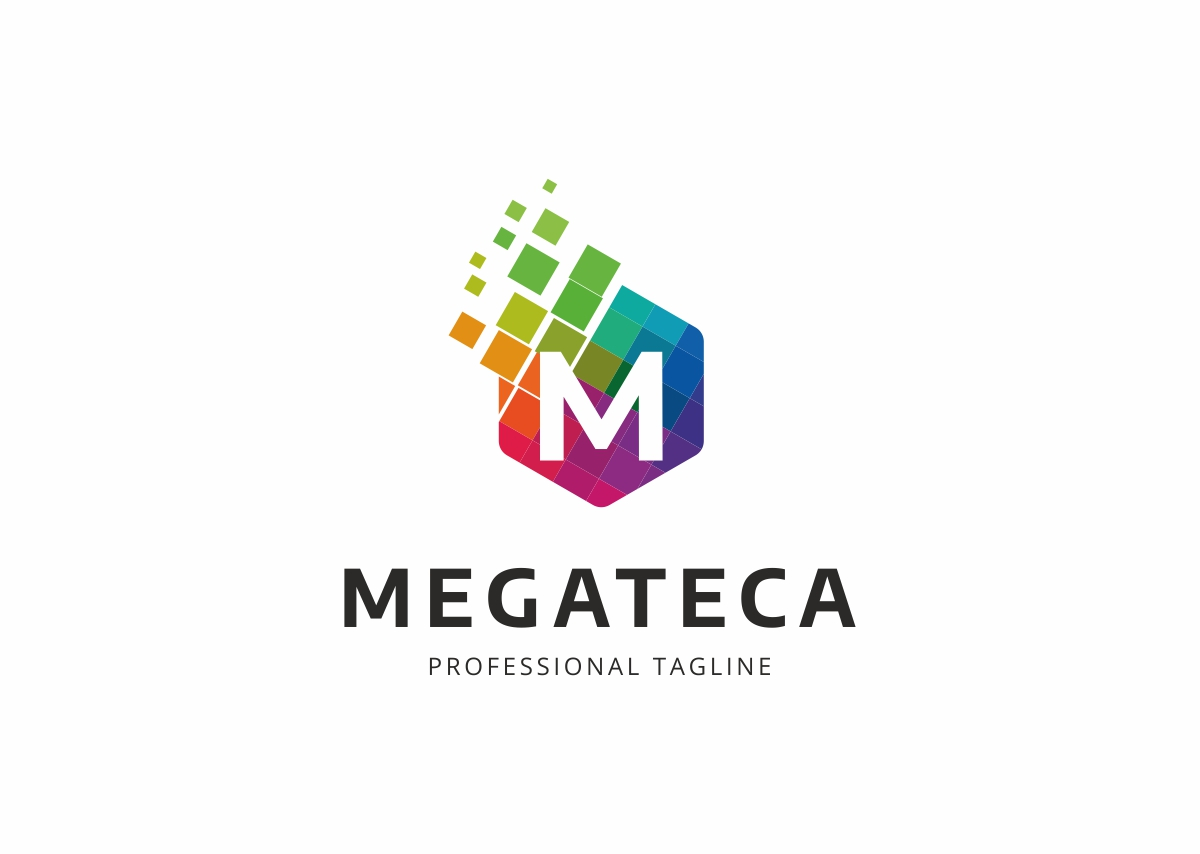 Megateca M Letter Logo Template