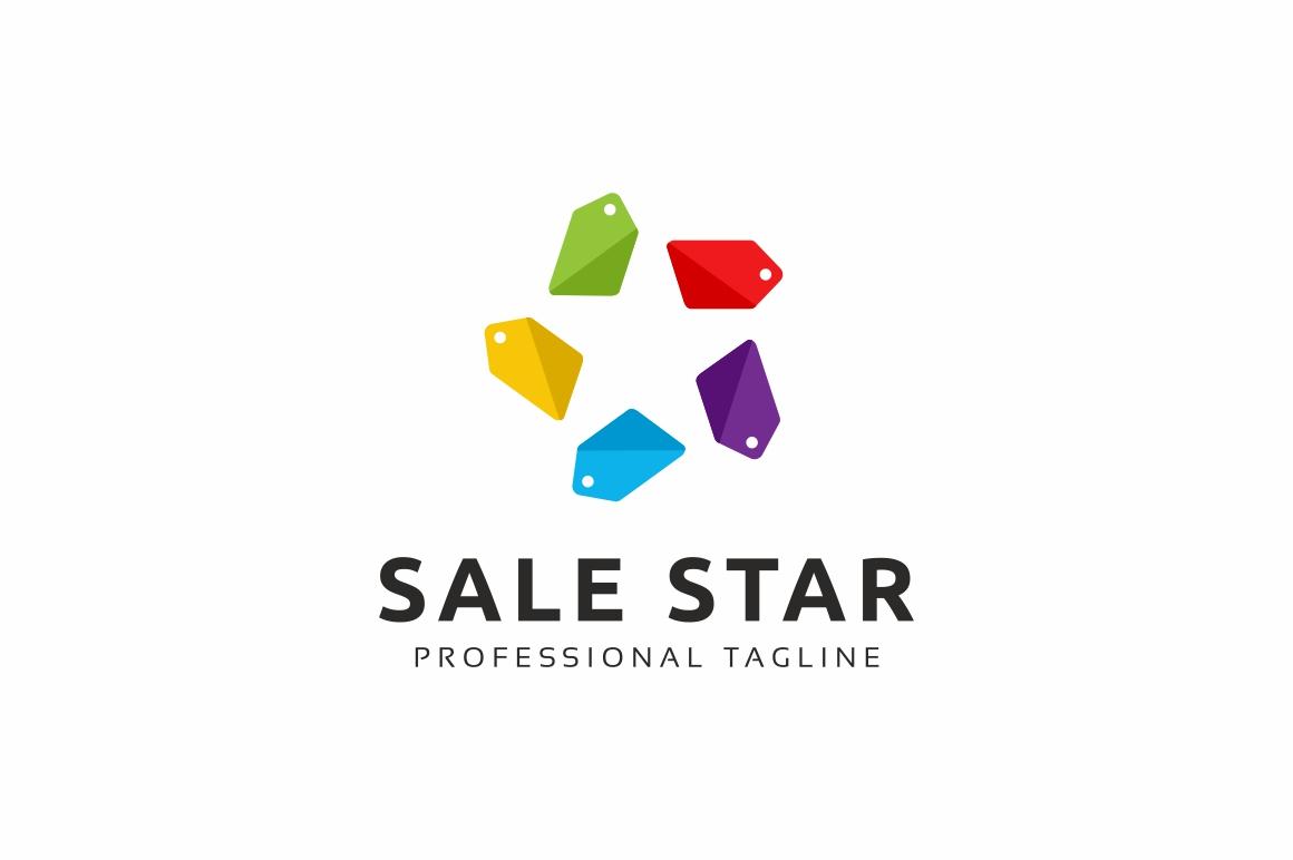 Sale Star Logo Template