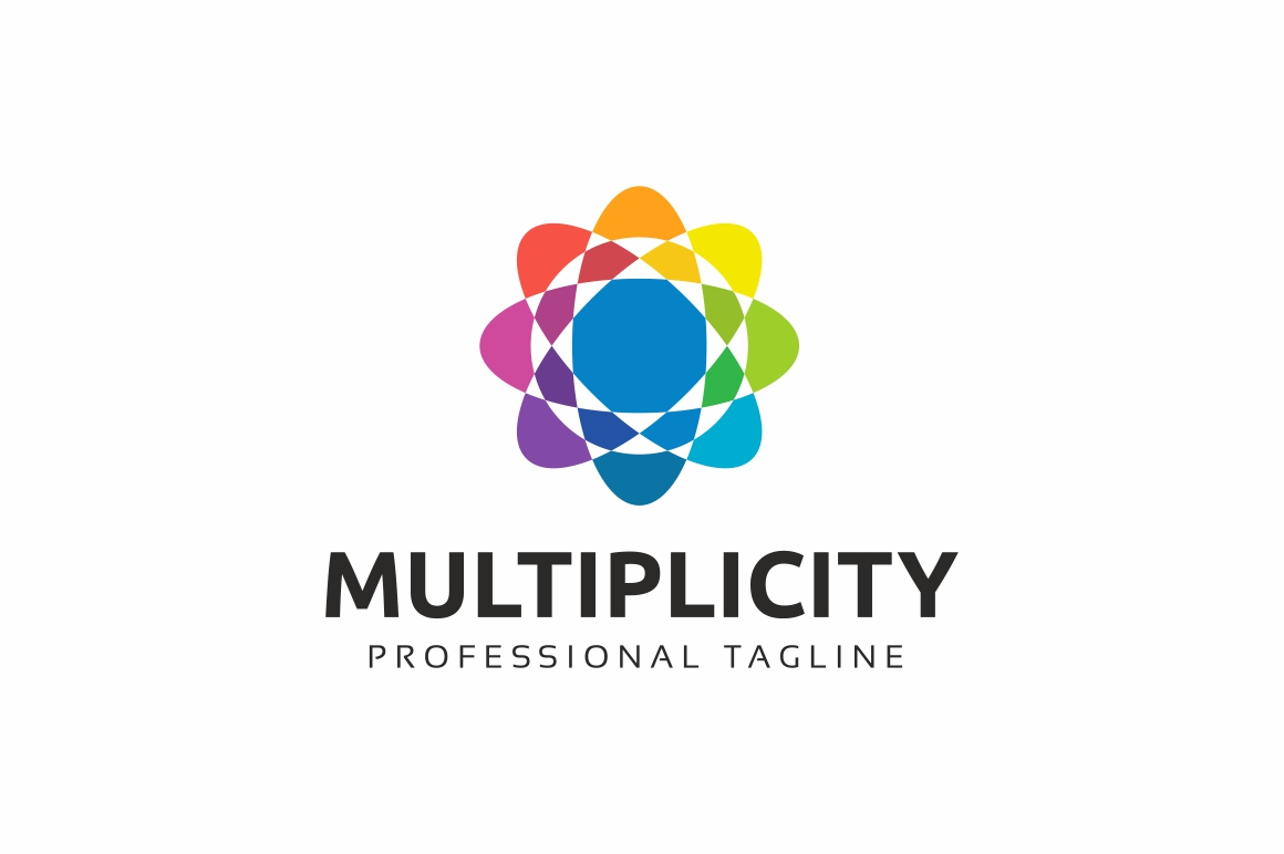 Multiplicity Color Circle Logo Template