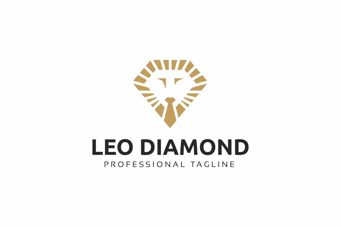 Lion Diamond Logo Template