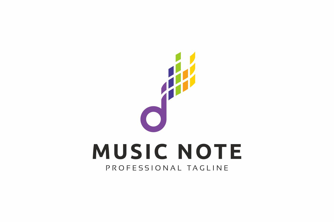 Music Note Logo Template