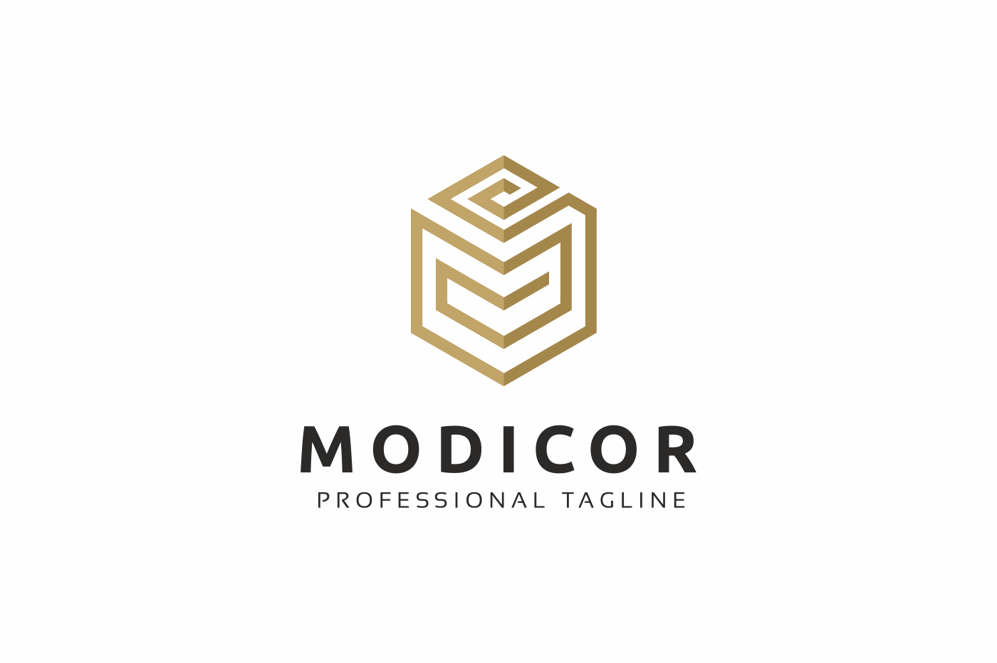 Modicor M Letter Logo Template