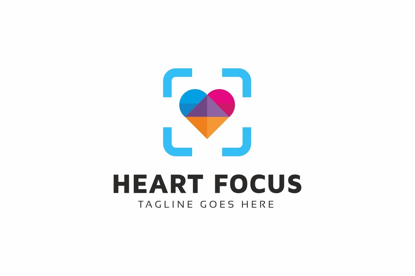 Heart Focus Logo Template