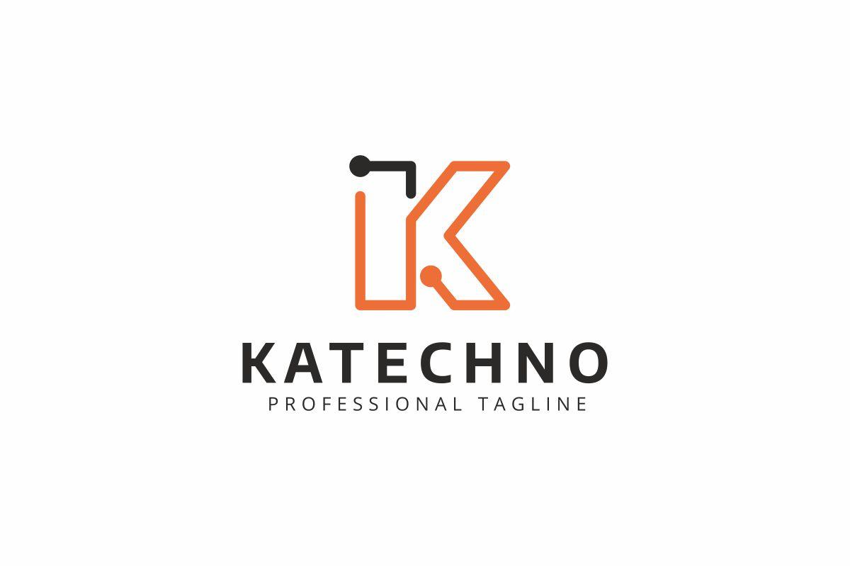 Katechno K Letter Logo Template