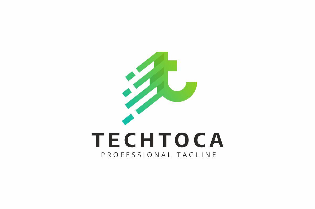Techtoca T Letter Logo Template