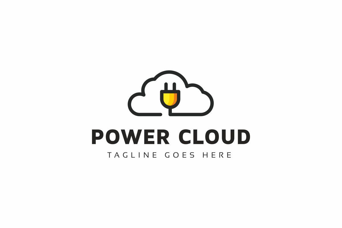 Power Cloud Logo Template