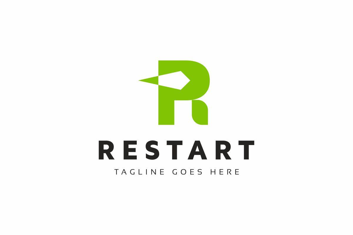 Restart R Letter Logo Template