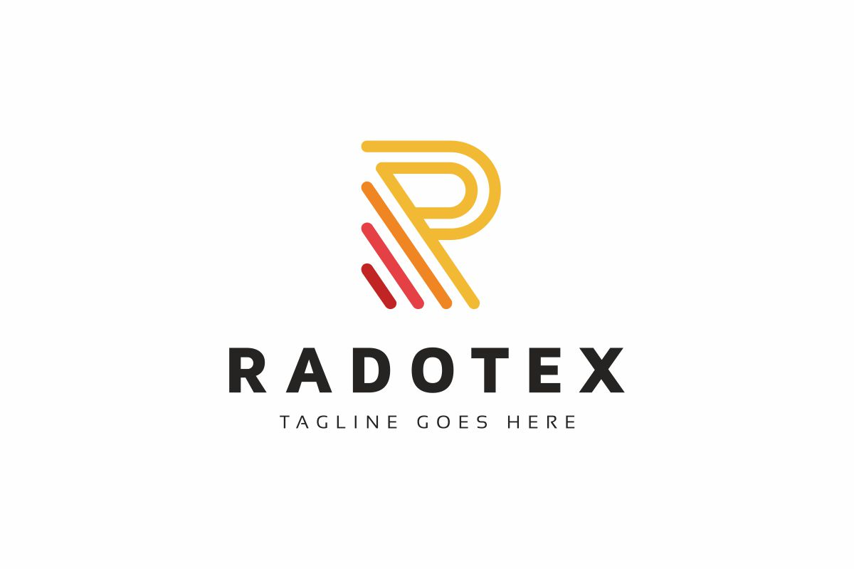 Radotex R Letter Logo Template