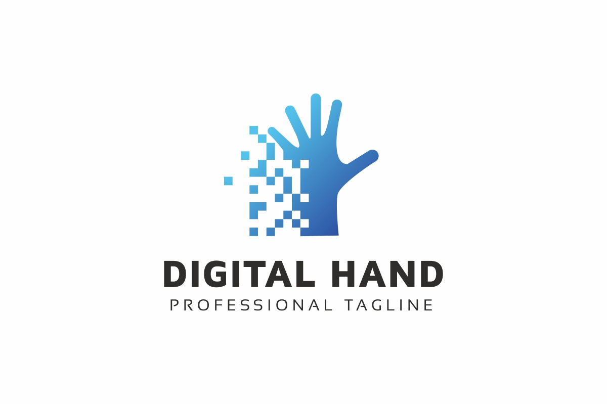 Digital Hand Logo Template
