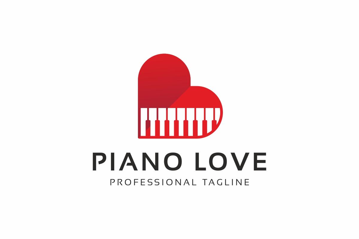 Piano Love Logo Template