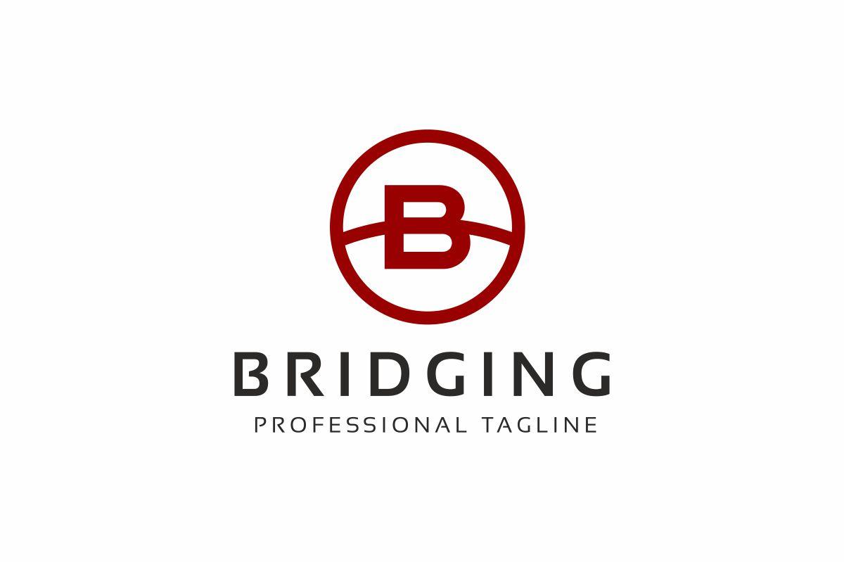 Bridging B Letter Logo Template