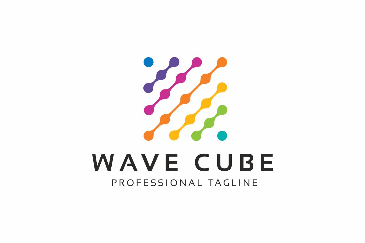 Wave Cube Logo Template