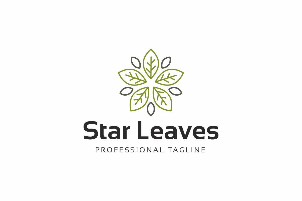 Star Leaves Logo Template