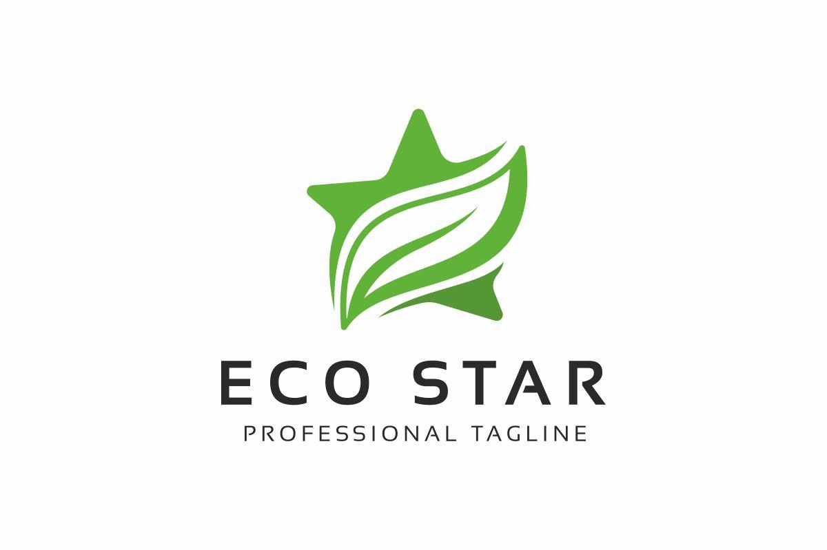 Eco Star Logo Template