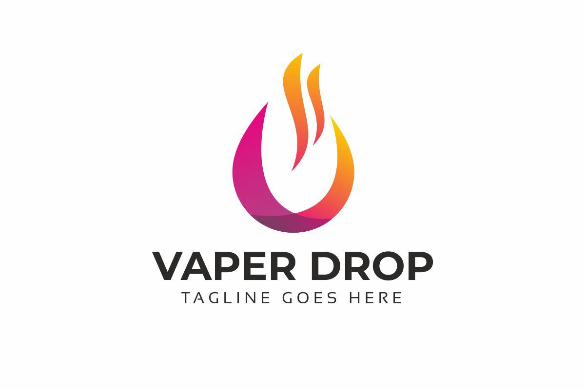 Vaper Drop Logo Template