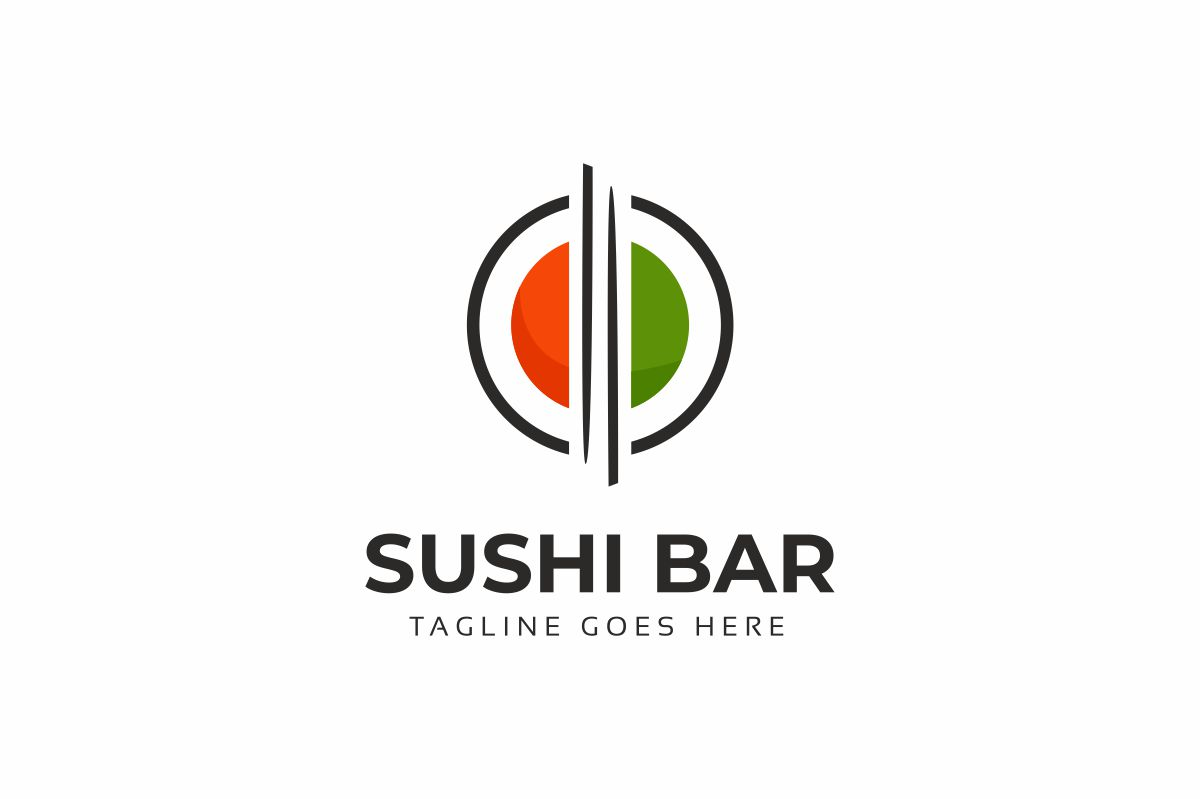 Sushi Bar Logo Template