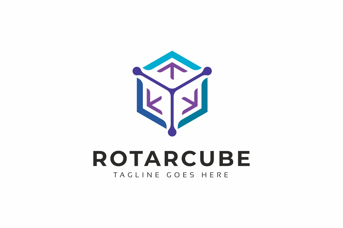 Rotation Hexagon Logo Template