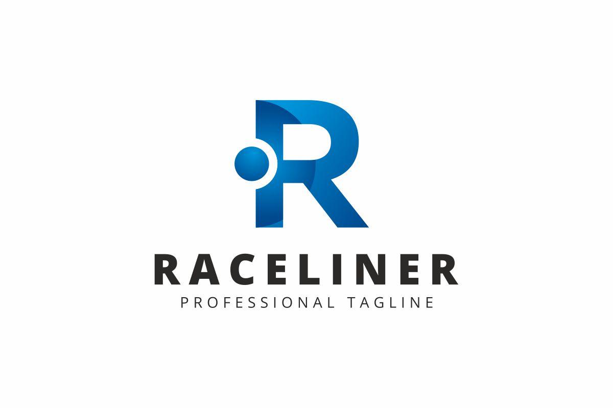 Raceliner R Letter Logo Template