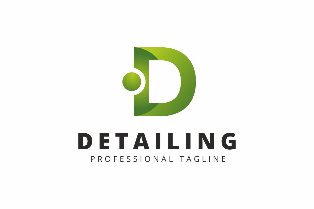 Detailing D Letter Logo Template