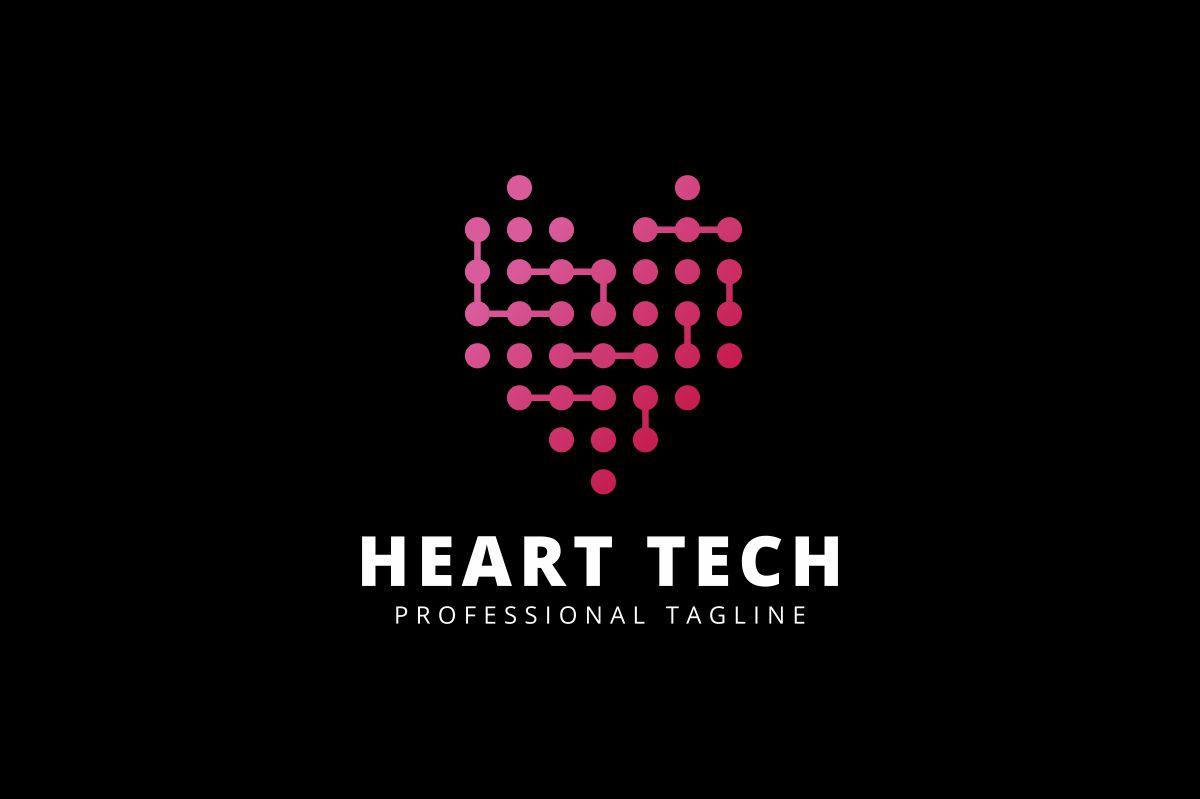Heart Digital Logo Template