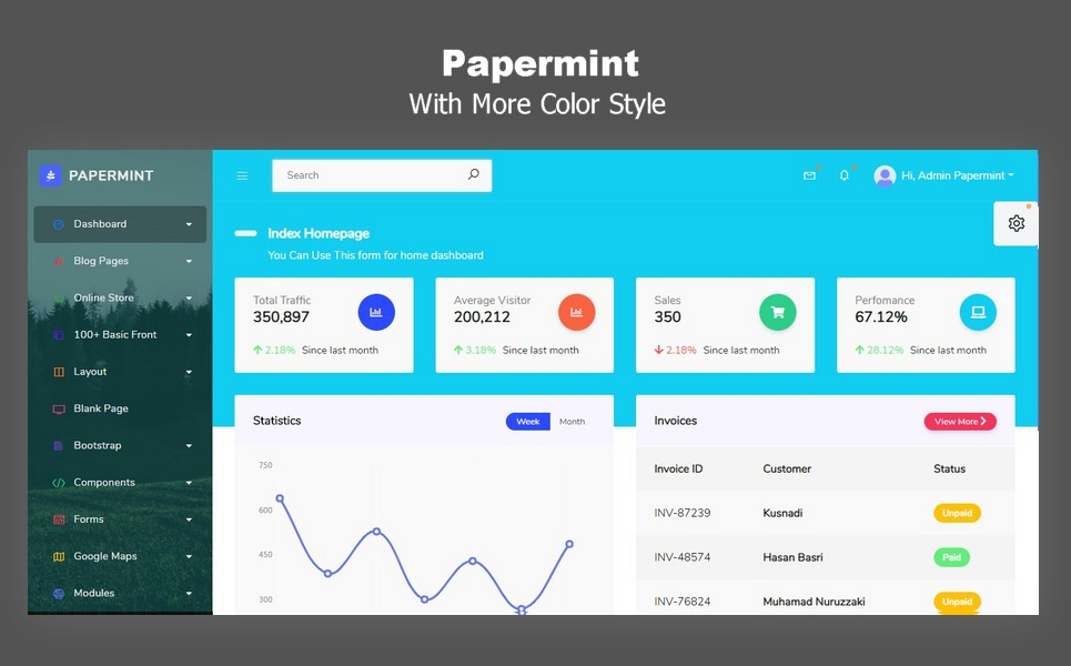 Papermint Dashboard Admin Template