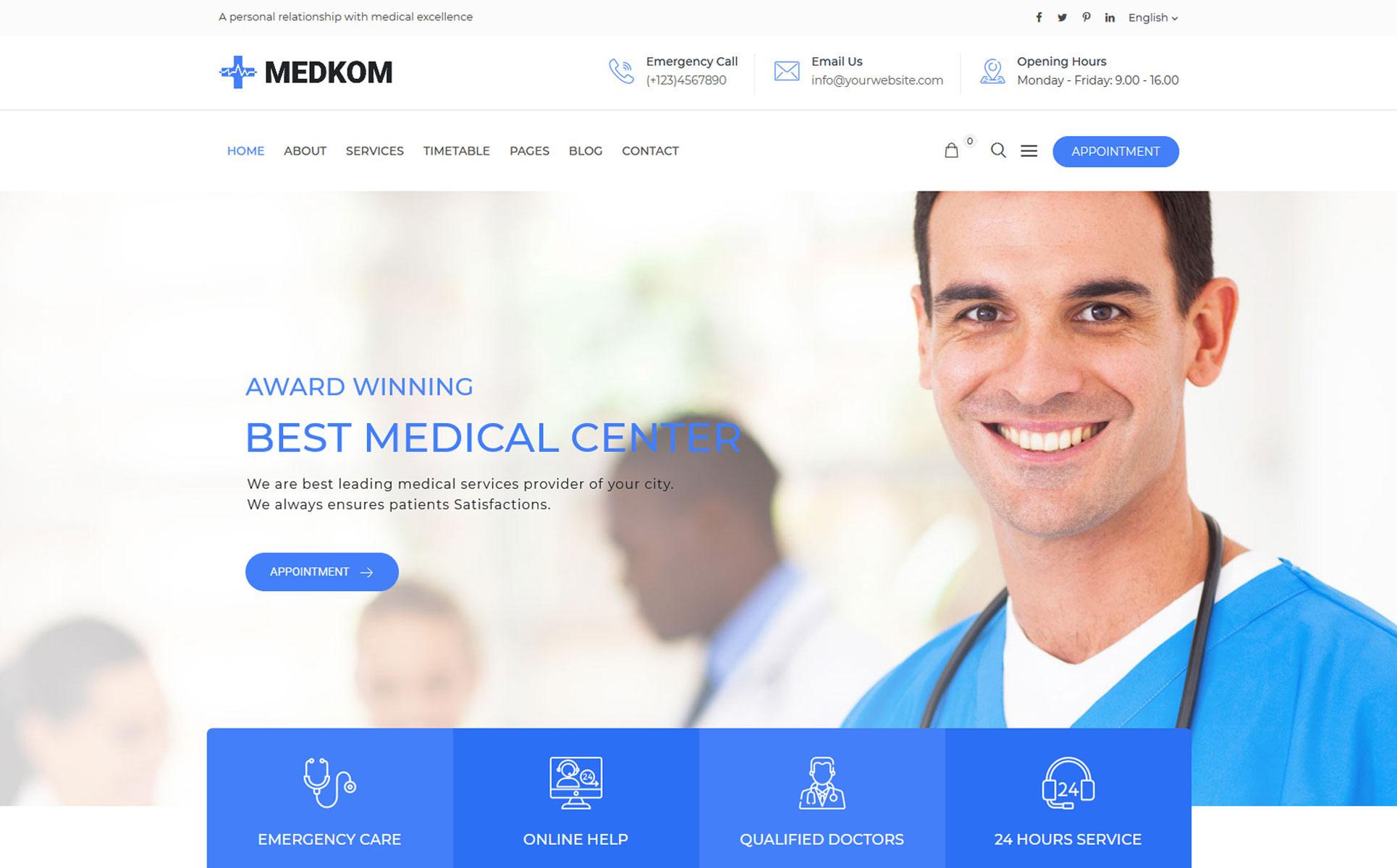 Medkom -  Medical & Health WordPress Theme