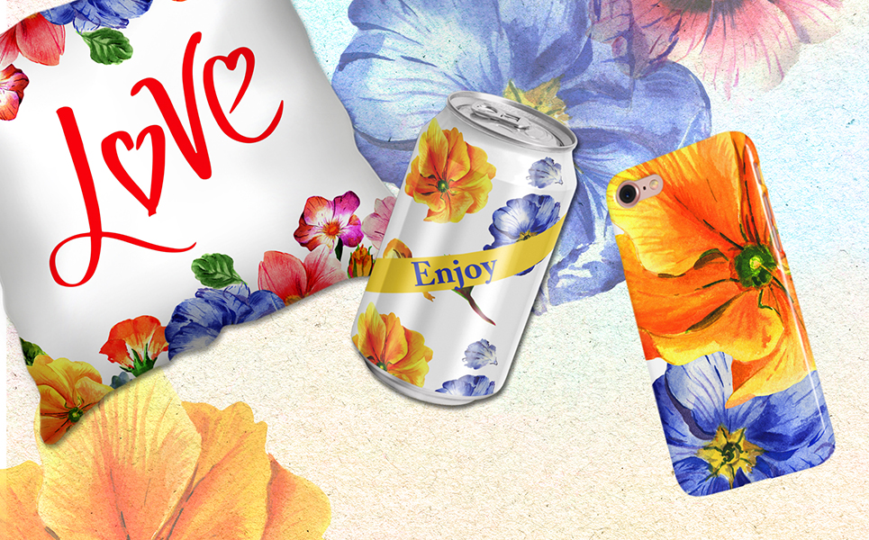 Primrose Or Primula Flowers - PNG Watercolor Illustrations