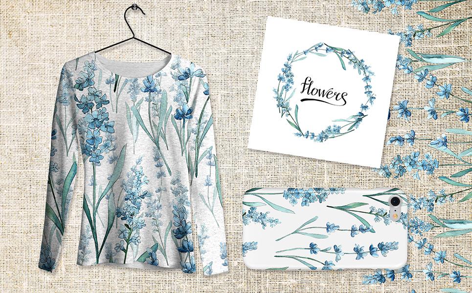 Scented Lavender - PNG Watercolor Flower Illustrations