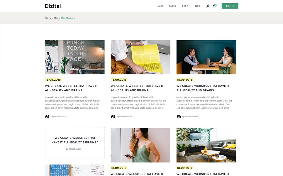 Dizital - Easy Digital Downloads WordPress Theme