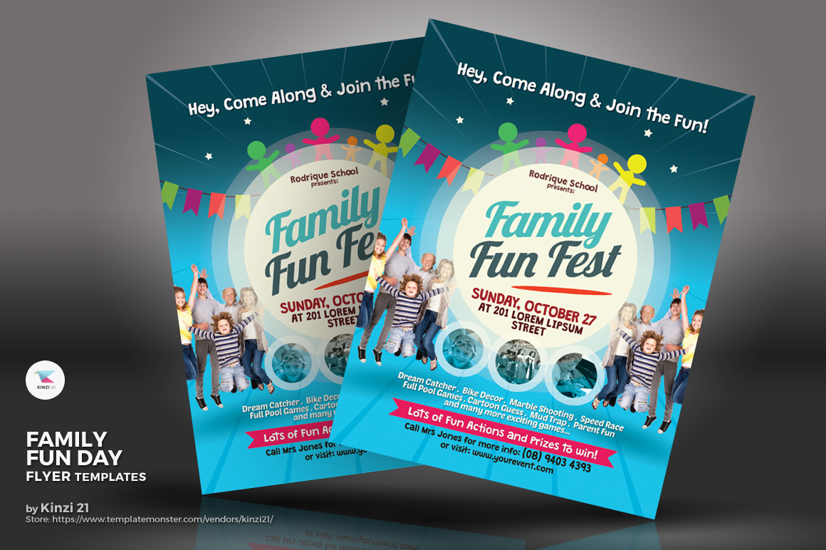 Family Fun Day Flyer Corporate Identity