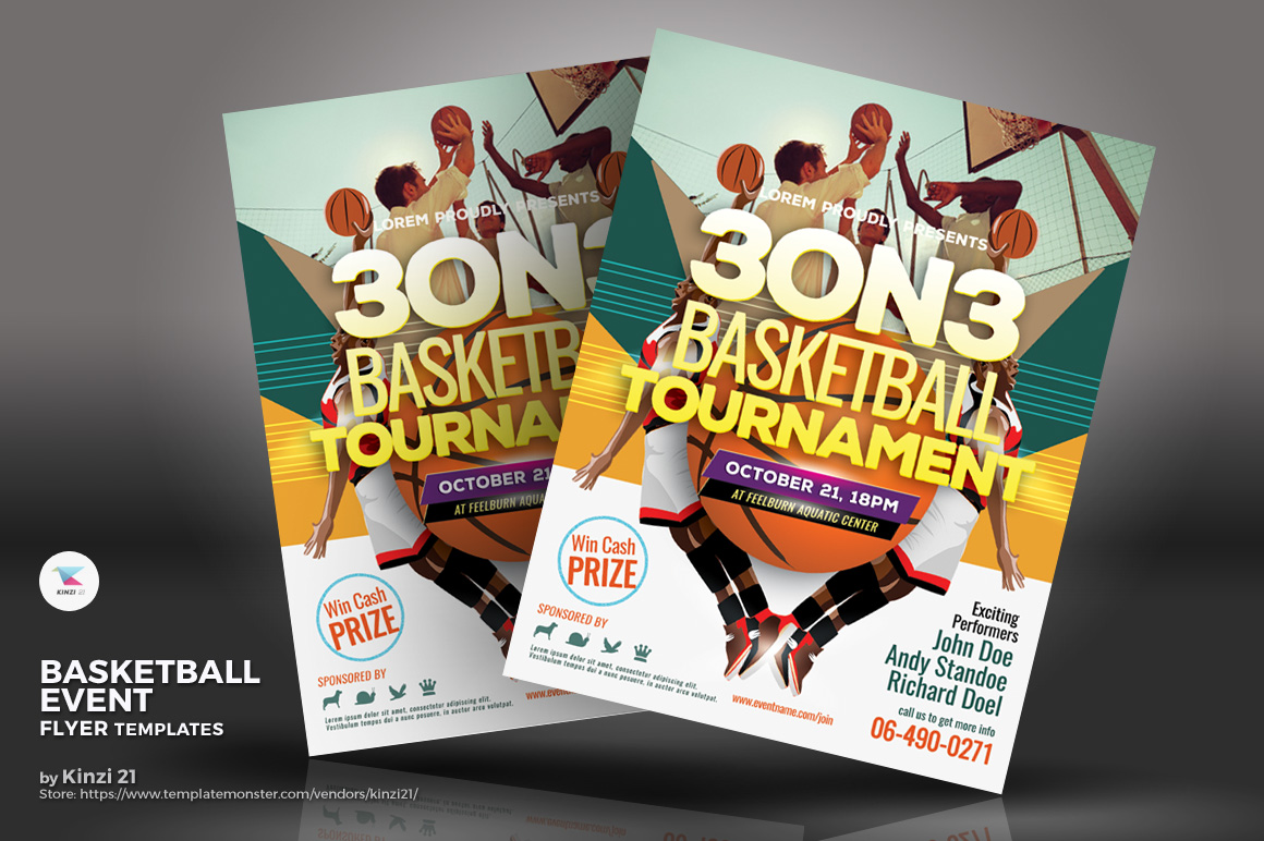 Basketball Event Flyer Corporate Identity
