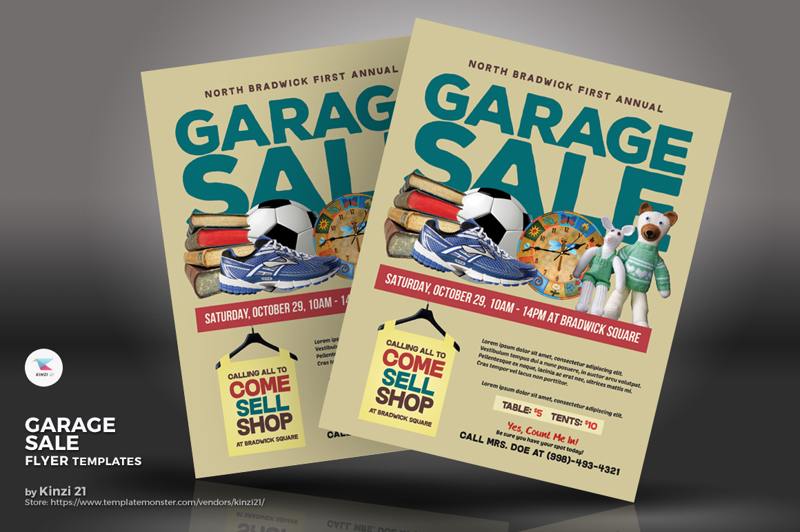 Garage Sale Flyer Corporate Identity