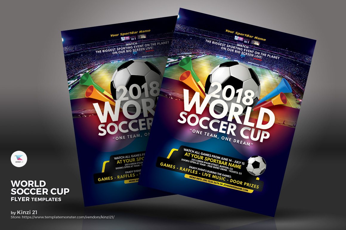 World Soccer Cup Flyers Corporate Identity