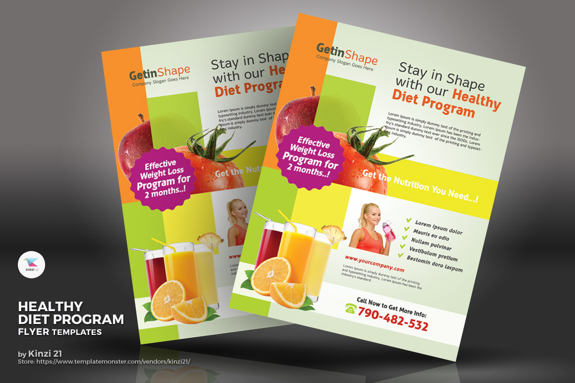 Healthy Diet Program Flyers Corporate Identity
