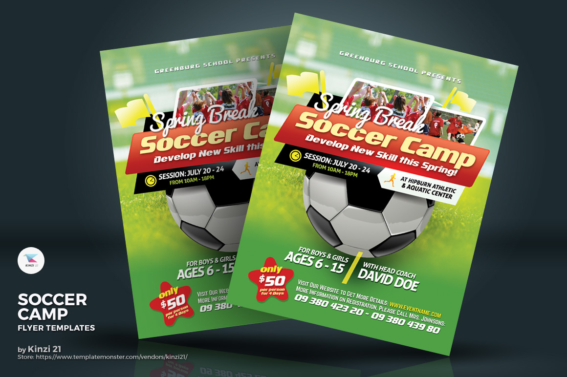 Soccer Camp Flyers Corporate Identity