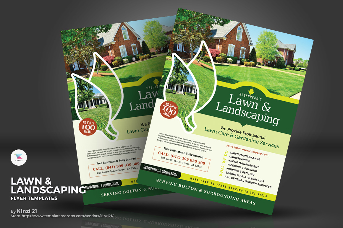 Lawn & Landscaping Flyers Corporate Identity
