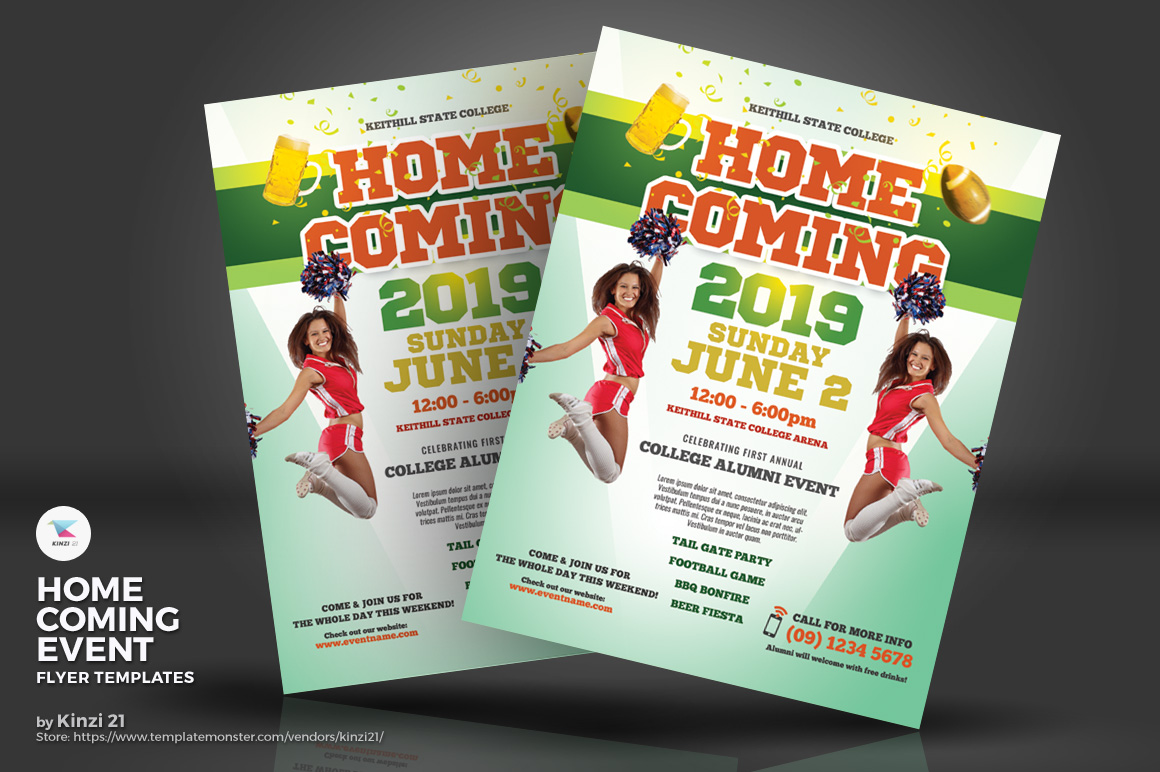 Homecoming Event Flyers Corporate Identity