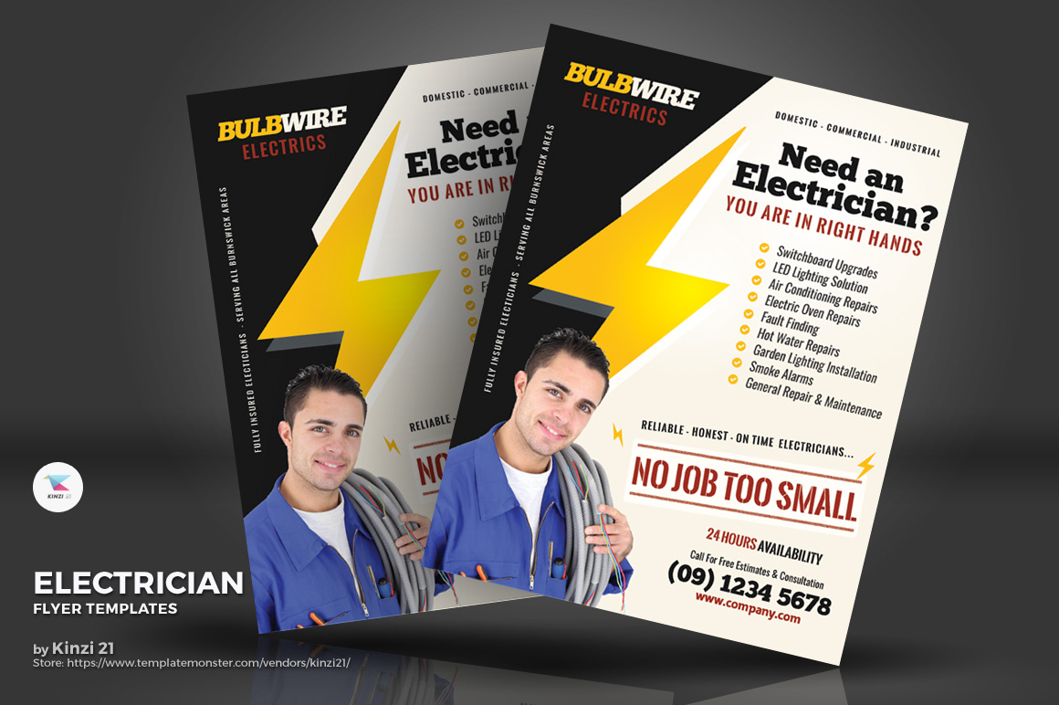 Electrician Flyers Corporate Identity