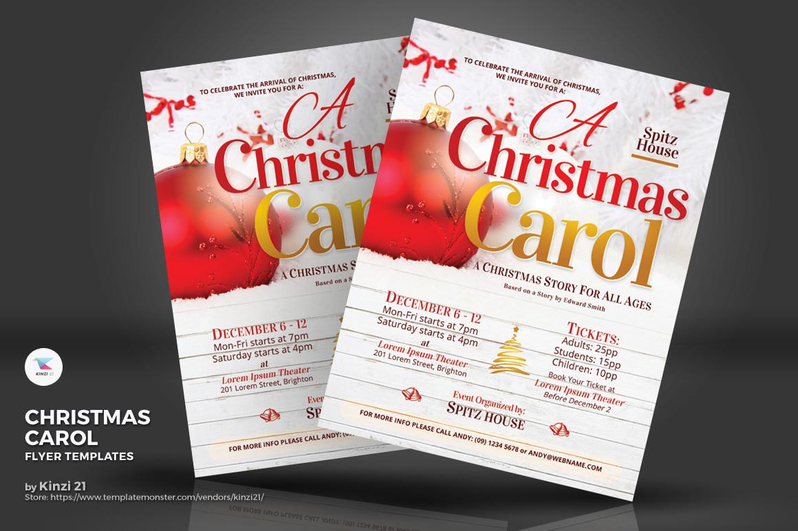 Christmas Carol Flyers Corporate Identity