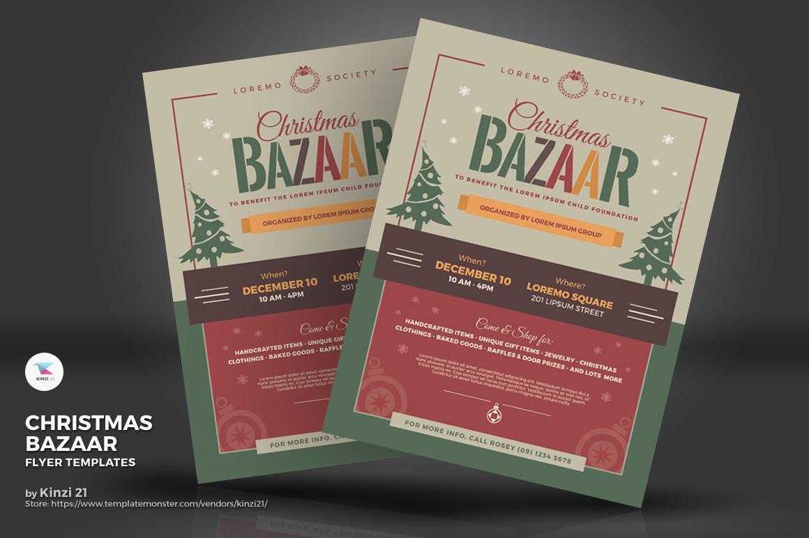 Christmas Bazaar Flyers Corporate Identity