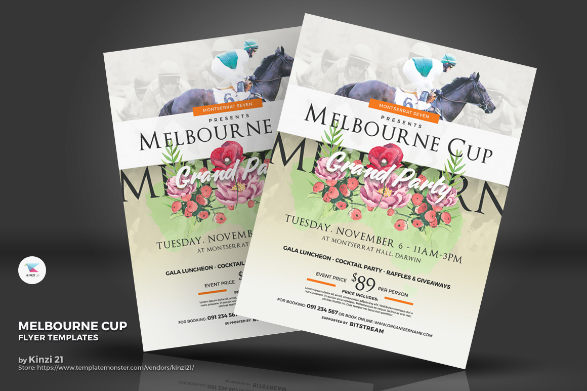 Melbourne Cup Flyer Corporate Identity