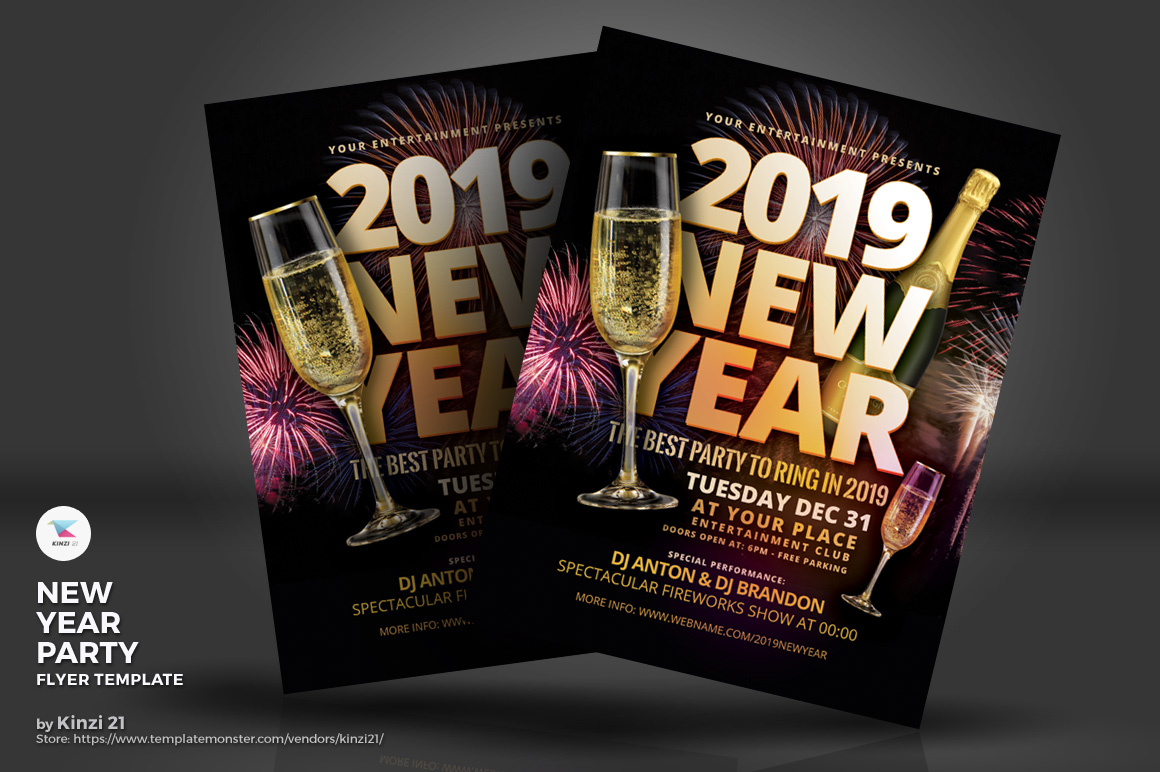 New Year Party Flyer Corporate Identity