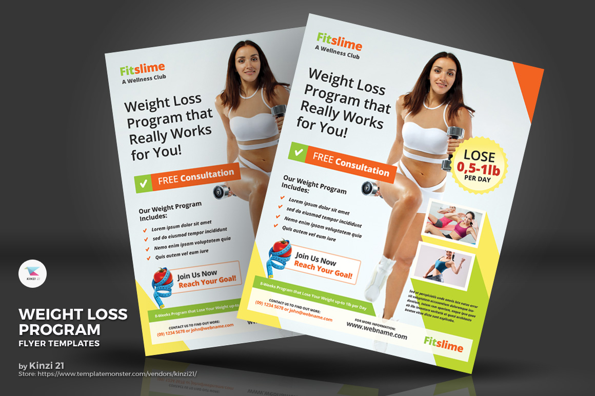 Weight Loss Program Flyer Corporate Identity