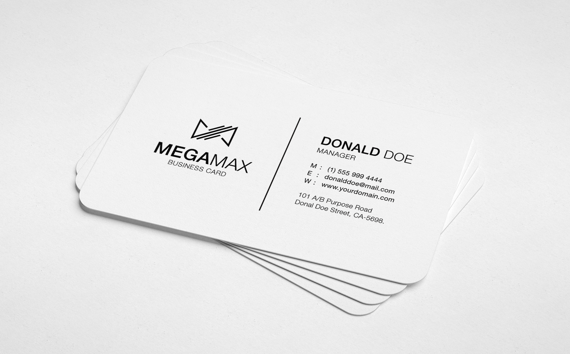 Black & White Minimal Business Card Corporate Identity