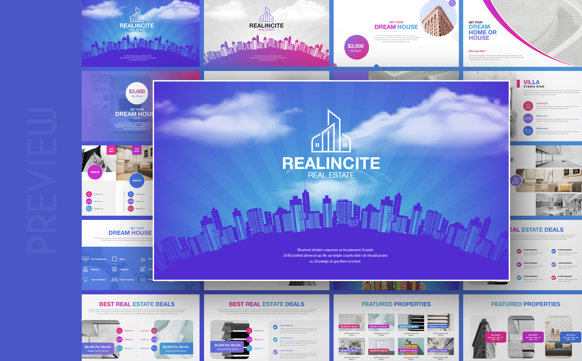 Realincite - Real Estate PowerPoint Template